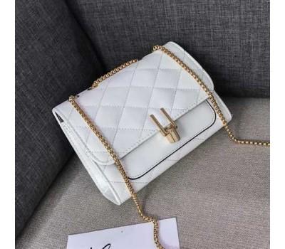 Женская мини сумка-клатч белая