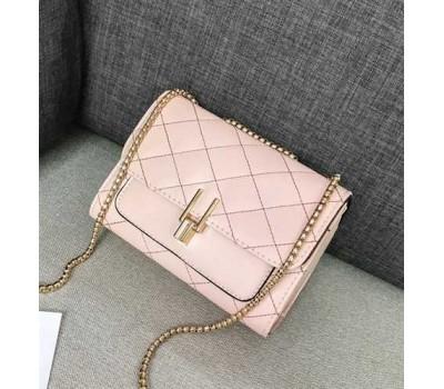 Женская мини сумка-клатч розовая