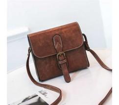 Маленькая женская сумочка в стиле ретро коричневая