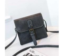 Маленькая женская сумочка в стиле ретро серая