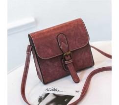 Маленькая женская сумочка в стиле ретро красная