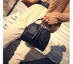 Модная женская мини сумка черная