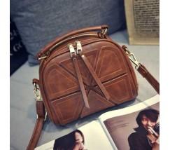 Модная женская мини сумка коричневая