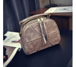 Модная женская мини сумка светло-серая