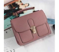 Женская мини сумочка классика темно-розовая
