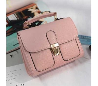 Женская мини сумочка классика светло-розовая