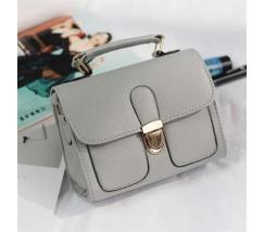 Женская мини сумочка классика серая