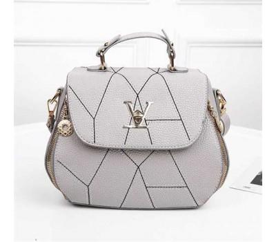 Серая женская сумка в стиле Louis Vuitton