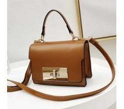 Елегантна жіноча сумка клатч коричнева