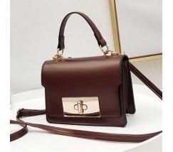 Елегантна жіноча сумка клатч темно-коричнева