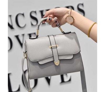 Модная маленькая женская сумочка серая