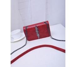Красная женская сумка Веточка