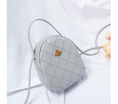 Маленькая сумочка-рюкзак серая