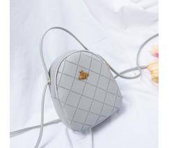 Маленька сумочка-рюкзак сіра