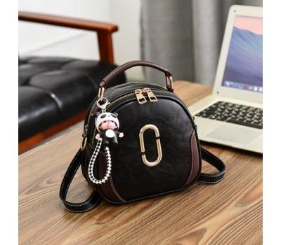 Женская сумка-рюкзак черная