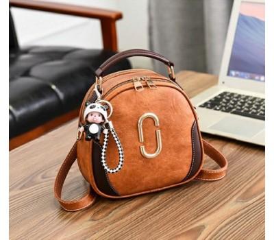 Женская сумка-рюкзак коричневая
