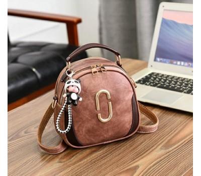 Женская сумка-рюкзак бронзовая