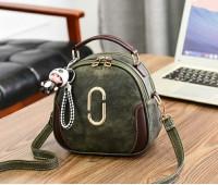 Жіноча сумка-рюкзак зелена