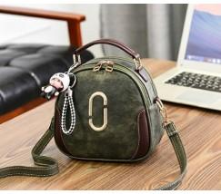 Женская сумка-рюкзак зеленая