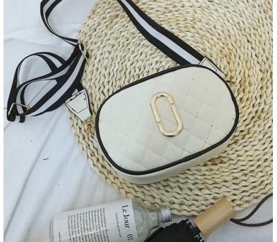 Женская мини сумочка белая (молочная)
