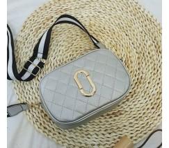 Женская мини сумочка серебристая