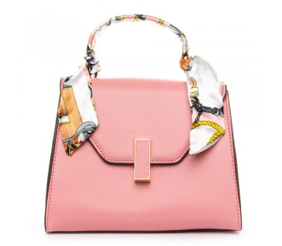 Стильная компактная сумка розовая