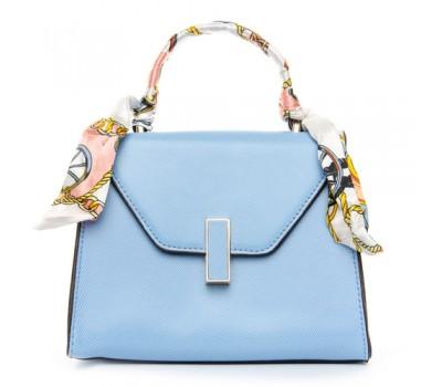Стильная компактная сумка голубая