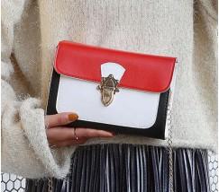 Гарна жіноча сумка біло-червона