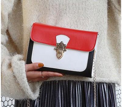 Красивая женская сумка бело-красная