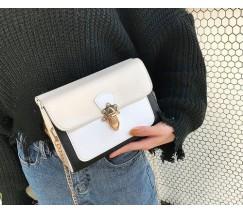 Гарна жіноча сумка біло-бежева