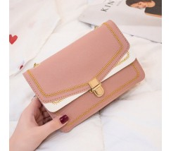 Гарна сумка на ланцюжку рожева