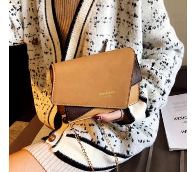 Необычная женская сумка светло-коричневая