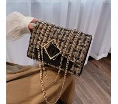 Жіноча елегантна сумка з тканини чорна