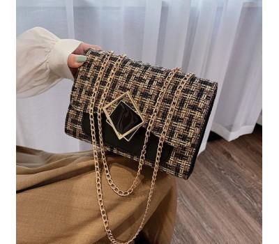 Женская элегантная сумка с ткани черная