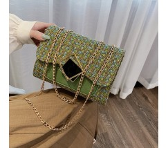 Жіноча елегантна сумка з тканини зелена