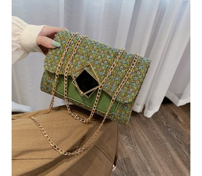 Женская элегантная сумка с ткани зеленая