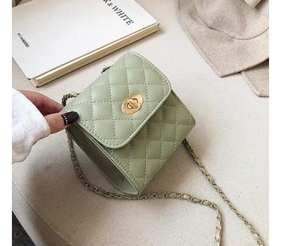 Маленькая сумочка клатч зеленая