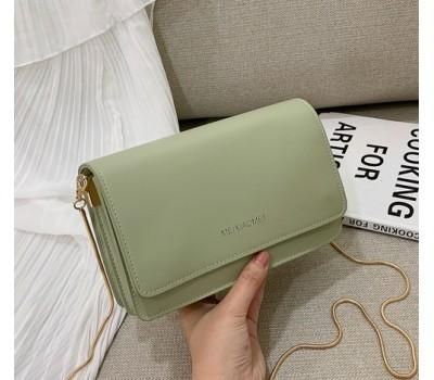 Однотонная сумка женская зеленая