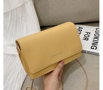 Однотонная сумка женская желтая