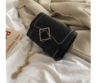 Женская красивая сумка на цепочке черная