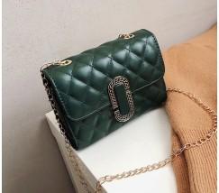 Женская маленькая сумка в стиле Marc Jacobs зеленая