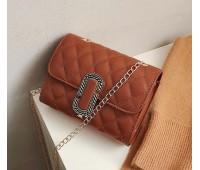 Жіноча маленька сумка в стилі Marc Jacobs коричнева
