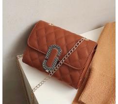 Женская маленькая сумка в стиле Marc Jacobs коричневая
