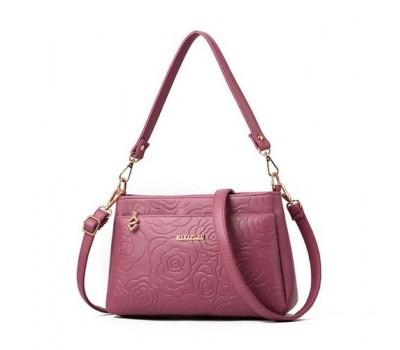 Красивая женская сумочка клатч розовая