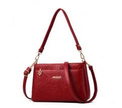 Гарна жіноча сумочка клатч червона