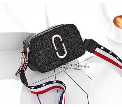 Женская мини сумочка Marc Jacobs черная с блестками (копия)