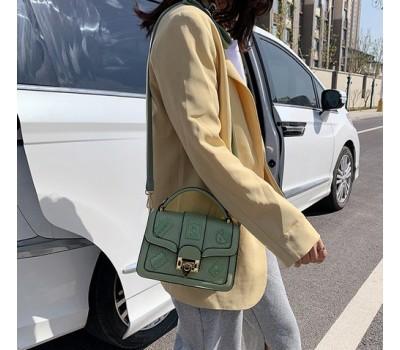 Оригинальная женская сумка зеленая
