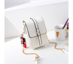 Маленькая женская сумка-клатч белая