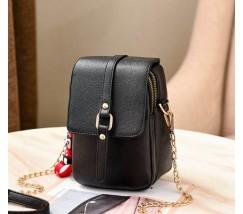 Маленькая женская сумка-клатч черная