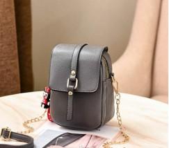 Маленькая женская сумка-клатч темно-серая